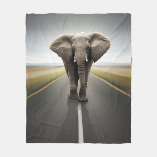 Elephant Trucker Fleece Blanket