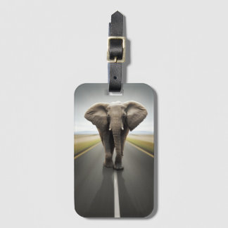 Elephant Trucker Luggage Tag