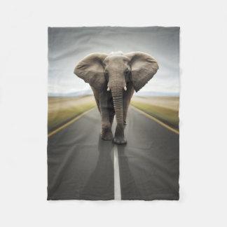 Elephant Trucker Small Fleece Blanket