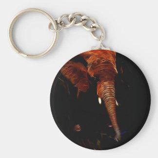 Elephant trunk keychain