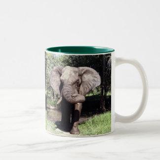 Elephant Two-Tone Coffee Mug