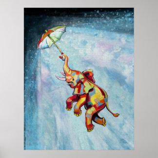 Elephant Umbrella (updated design) Poster