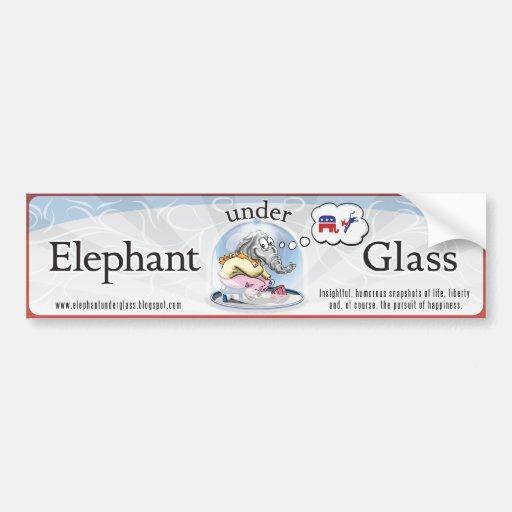 Elephant Under Glass Bumper Sticker