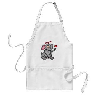 Elephant Valentine T-shirts and Gifts Standard Apron