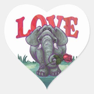 Elephant Valentine's Day Heart Sticker