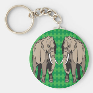 Elephant vector design key chains