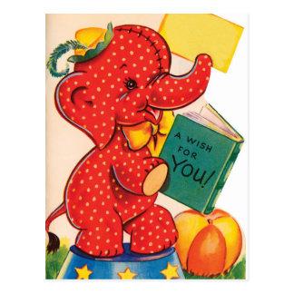 Elephant | Vintage Valentine | Postcard