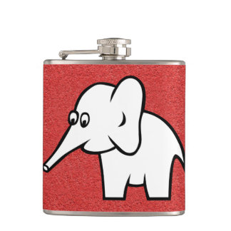 Elephant Vinyl Wrapped Flask