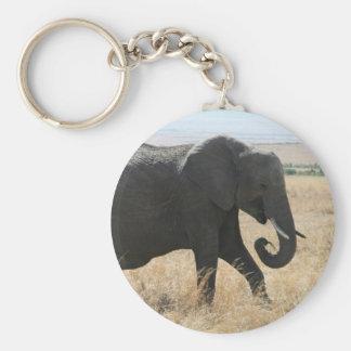 elephant walk basic round button key ring