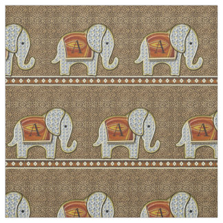 Elephant Walk Monogram Hot Cheetah Fabric