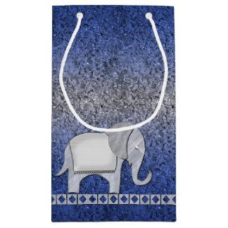 Elephant Walk Monogram Silver ID390 Small Gift Bag