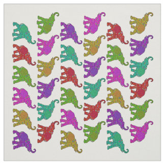 Elephant Walk pattern tiles design + your backgr. Fabric