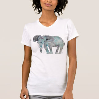 Elephant watercolor cutting on tshirt by MUNGARO