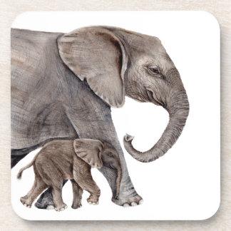 Elephant with Baby Elephant Coaster