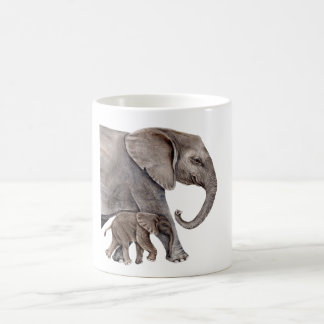 Elephant with Baby Elephant Coffee Mug
