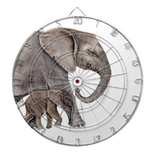 Elephant with Baby Elephant Dartboard