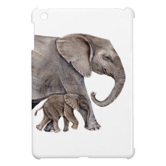 Elephant with Baby Elephant iPad Mini Cover