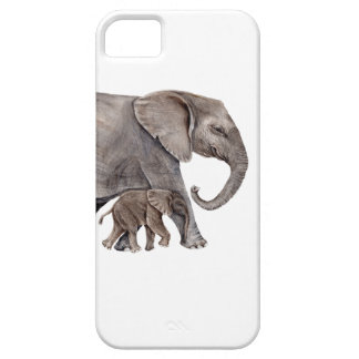Elephant with Baby Elephant iPhone 5 Cases