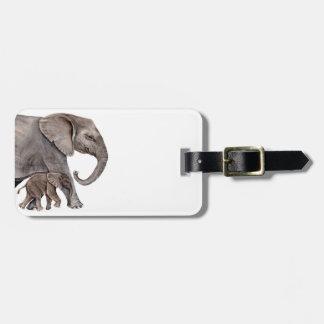 Elephant with Baby Elephant Luggage Tag