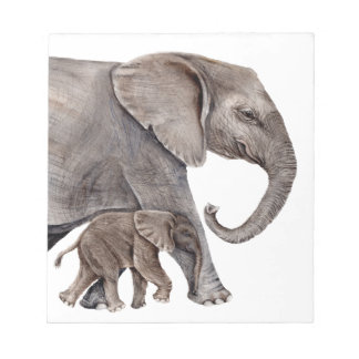 Elephant with Baby Elephant Notepad