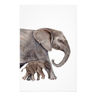 Elephant with Baby Elephant Stationery