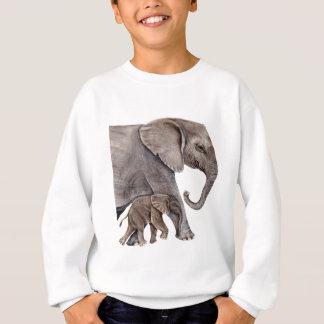 Elephant with Baby Elephant Sweatshirt