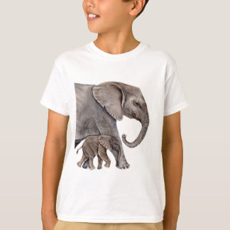 Elephant with Baby Elephant T-Shirt