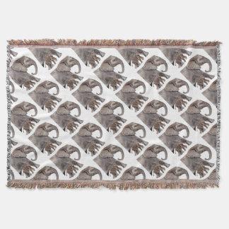 Elephant with Baby Elephant Throw Blanket