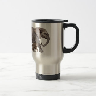 Elephant with Baby Elephant Travel Mug
