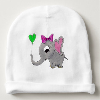 Elephant with balloon baby beanie