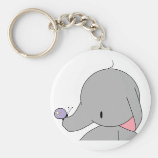 elephant with butterfly keychain