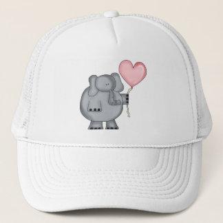 Elephant with Heart Balloon Trucker Hat