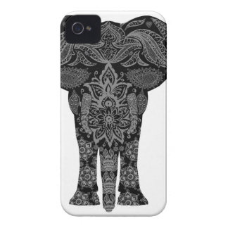 Elephant With Henna Mehndi Pattern iPhone 4 Case-Mate Cases