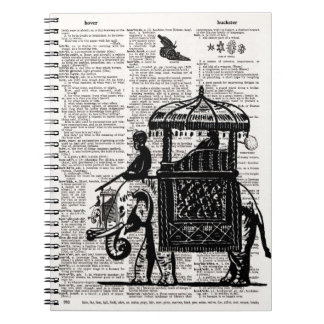 Elephant with Howdah Dictionary Art Notebooks