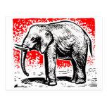 Elephant Woodcut