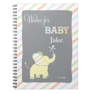 Elephant  |  Words of Advice Baby Shower Notepad Notebook
