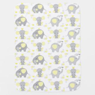 Elephant Yellow Safari Animal Nursery Baby Neutral Baby Blanket