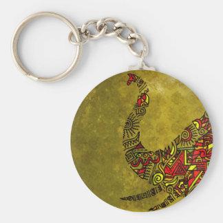 Elephant Zenscrawl Basic Round Button Key Ring