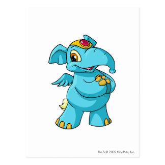 Elephante Blue Postcard