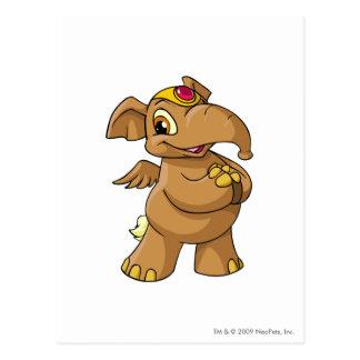 Elephante Brown Postcard
