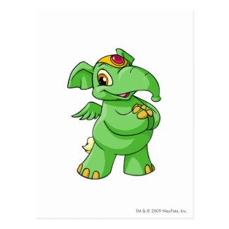 Elephante Green Postcard