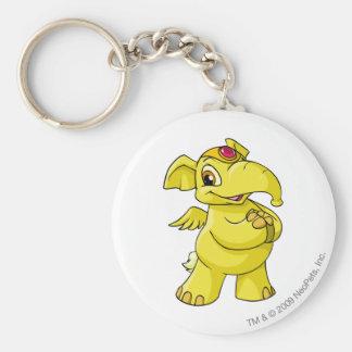 Elephante Yellow Basic Round Button Key Ring