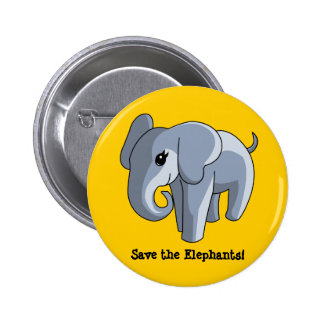 Elephants 6 Cm Round Badge