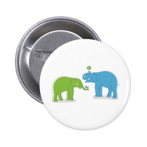 Elephants 6 Cm Round Badge
