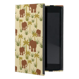 Elephants And Palms In Camouflage Cover For iPad Mini