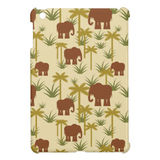 Elephants And Palms In Camouflage iPad Mini Cover