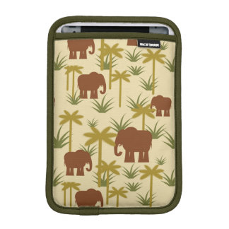 Elephants And Palms In Camouflage iPad Mini Sleeves