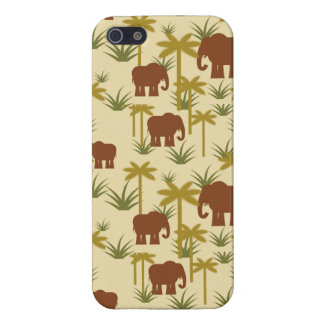 Elephants And Palms In Camouflage iPhone 5/5S Cover