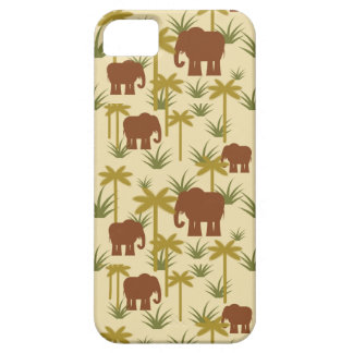 Elephants And Palms In Camouflage iPhone 5 Case