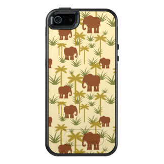 Elephants And Palms In Camouflage OtterBox iPhone 5/5s/SE Case